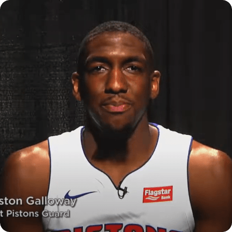 Detroit Pistons Guard Langston Galloway teams up with Frank Financial Aid